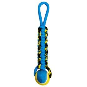 """Игрушка Petpark """"Плетенка"""" для собак, с теннисным мячом и петлей, 8 см"""