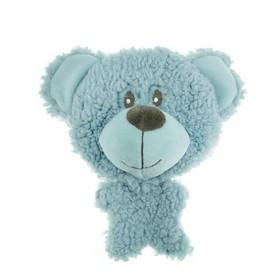 """Игрушка AROMADOG BIG HEAD """"Мишка"""" для собак BIG HEAD, 12 см, голубой"""