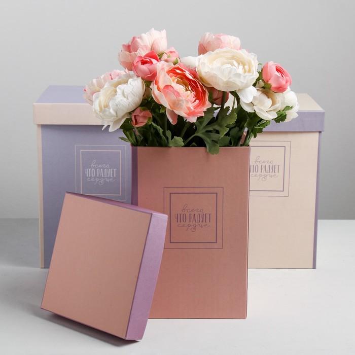 Набор коробок 3 в 1 «Пантон с рамкой», 18 × 18 × 25‒15 × 15 × 23 см