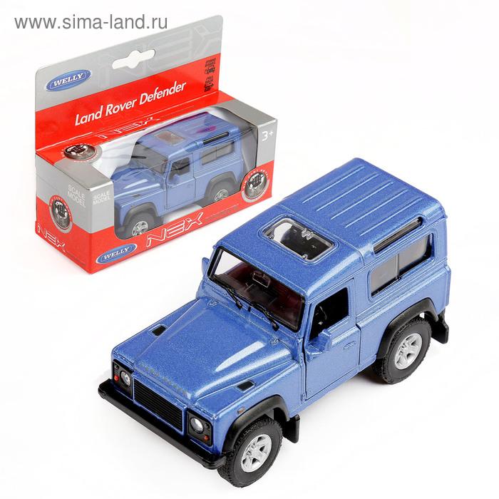 """Модель машины """"Land Rover Defender"""", масштаб 1:34-39 ,цвета МИКС"""