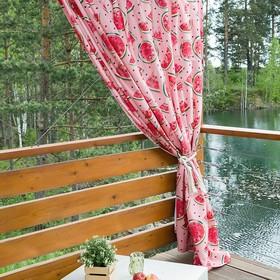 Портьера для террасы Этель «Арбузы», 200 × 210 см, репс с пропиткой ВМГО, 100%-ный хлопок