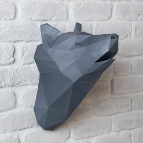 Набор для создания полигональной фигуры «Волк», 32.5 × 44 см