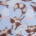 Бортик Крошка Я «Еноты», из подушечек (32 × 32 см, 12 шт.), бязь/синтепон - фото 105556103