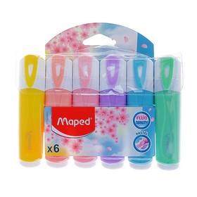 Набор маркеров текстовыделителей 6 цветов 5.0 мм, Maped Fluo Pep's CLASSIC, пастельные цвета
