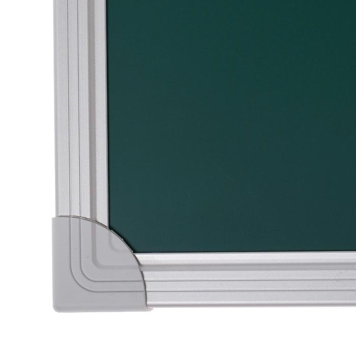 Доска магнитно-меловая, 45 х 60 см, зелёная, Calligrata REEF, в алюминиевой рамке - фото 551485648