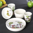 Набор посуды Moomin, на 4 персоны, 12 предметов - фото 308117563
