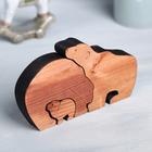 Деревянная интерьерная фигурка «Семья медвежат», 13 × 7 см