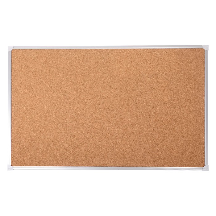 Доска пробковая 45 х 60 см, Calligrata REEF, в алюминиевой рамке, с полочкой