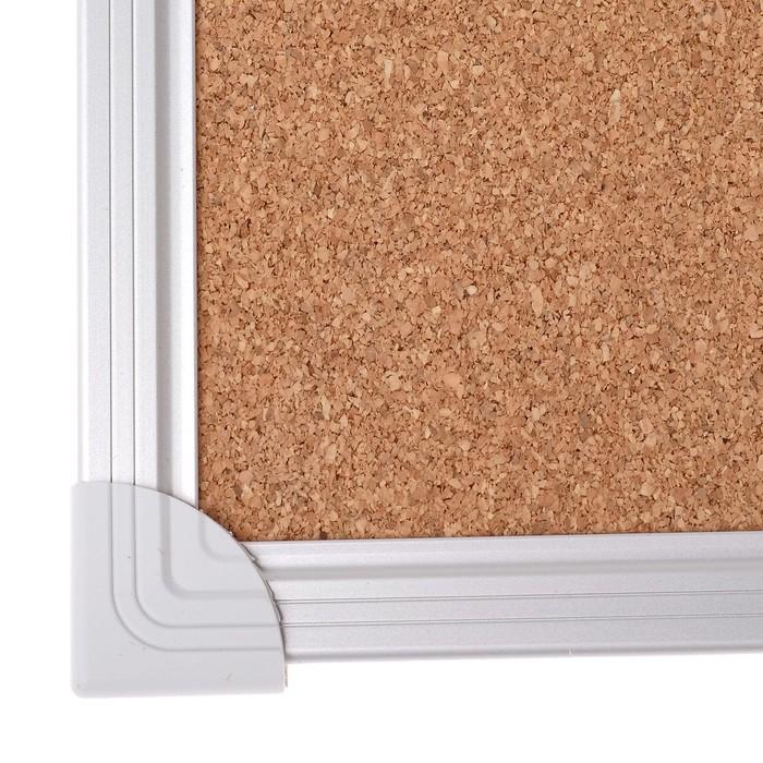 Доска пробковая 45 х 60 см, Calligrata REEF, в алюминиевой рамке, с полочкой - фото 366930457
