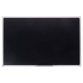 Доска магнитно-меловая, 60 х 90 см, чёрная, Calligrata REEF, в алюминиевой рамке, с полочкой