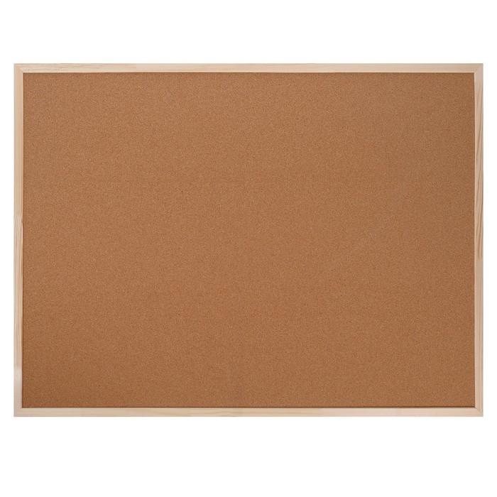 Доска пробковая 90 х 120 см, Calligrata LINE, в деревянной раме