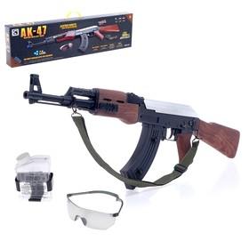 Скорострельный автомат АК-47, работает от аккумулятора