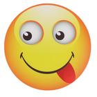 Коврик для мыши Simple S9 Smile, круглый, в виде смайла