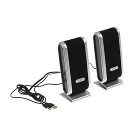 Компьютерные колонки 2.0 CBR CMS 299, 2х3 Вт, USB, чёрно-серебристые Ош