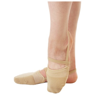 Half shoes with silicone rubber band (M, Beige)
