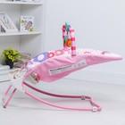 Шезлонг «Развиваемся», с погремушками, цвет розовый - фото 105455993