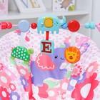 Шезлонг «Развиваемся», с погремушками, цвет розовый - фото 105455994