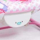 Шезлонг «Развиваемся», с погремушками, цвет розовый - фото 105455995