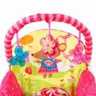Шезлонг «Мышка», с погремушками, цвет розовый - фото 965145