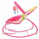 Шезлонг «Мышка», с погремушками, цвет розовый - фото 965146