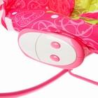 Шезлонг «Мышка», с погремушками, цвет розовый - фото 965148