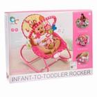 Шезлонг «Мышка», с погремушками, цвет розовый - фото 965149