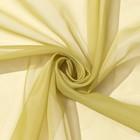 Ткань тюлевая гладкокрашенная 10 м, ширина 300 см, 50 г/м², цвет оливковый, вуаль, 100% п/э