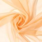 Ткань тюлевая гладкокрашенная 10 м, ширина 300 см, 50 г/м², цвет бежевый, вуаль, 100% п/э