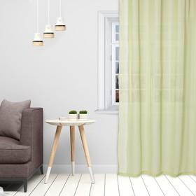 Тюль «Этель» 140×300 см, цвет светло-зеленый, вуаль, 100% п/э