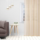 Тюль «Этель» 140×250 см, цвет бежевый, вуаль, 100% п/э