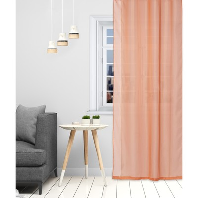"Tulle ""Ethel"" 140×300 cm, colour terracotta Voile, 100% p/e"