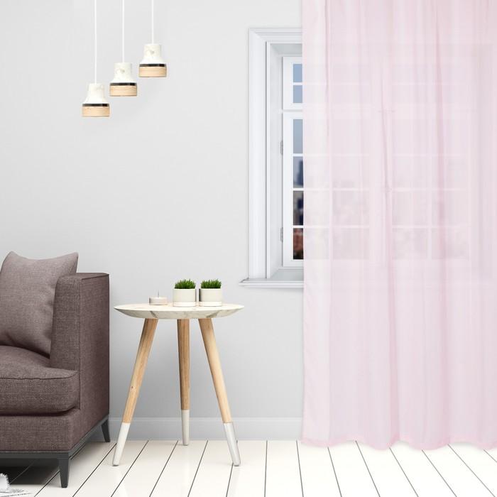 Тюль Этель 145×270 см, цвет розовый, вуаль, 100% п/э - фото 875858