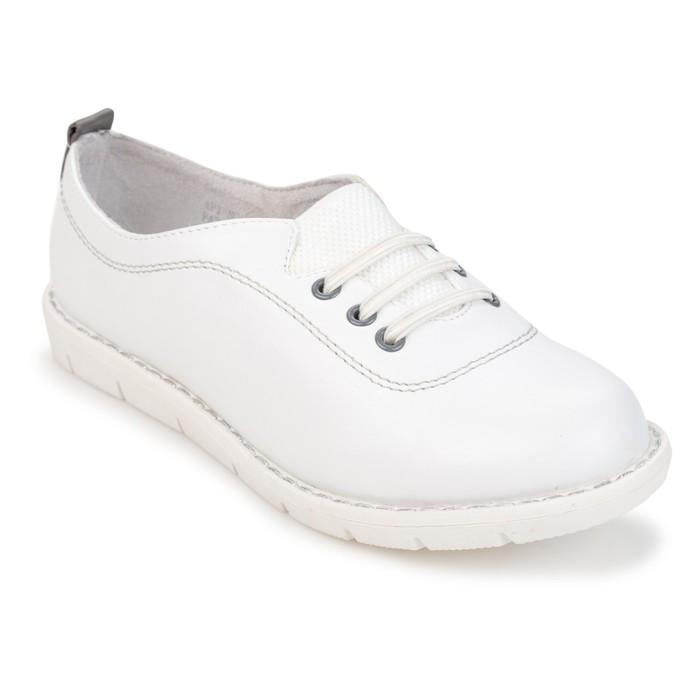 Полуботинки для девочек арт. SC-21817, цвет белый, размер 32