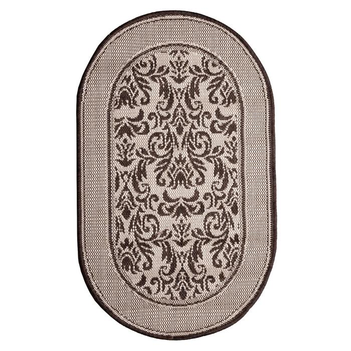 Ковер «Циновка», овальный, 60х100 см - фото 785782