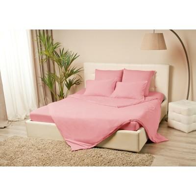 Простыня на резинке «Купу-купу», 80х200х20 см, розовый, трикотаж