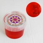 Слайм СТЕКЛО с коллекцией игрушек, цвет красный, 90 г в банке