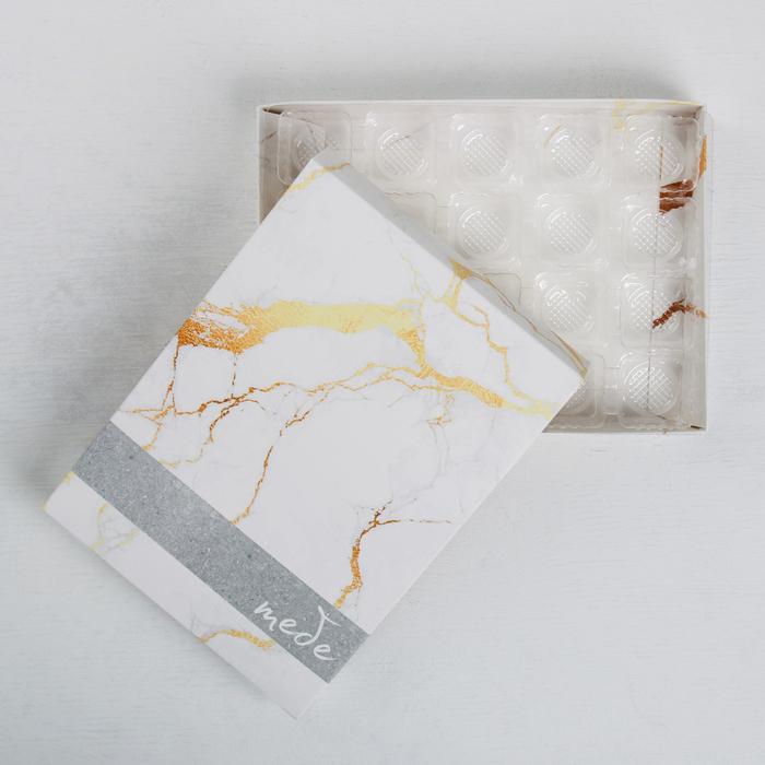 Коробка с ячейками для конфет «Хорошего настроения», 20 × 15 × 3.5 см - фото 308986026