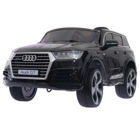 УЦЕНКА Электромобиль AUDI Q7, окраска глянец черный, EVA колеса, кожаное сидение