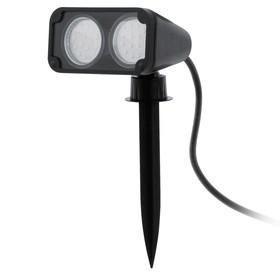 Светильник NEMA 1, 2x3Вт, GU10, IP44, цвет черный