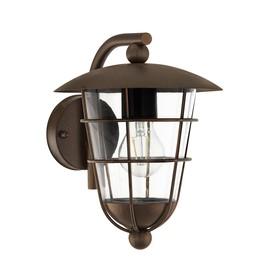 Светильник PULFERO 1, 60Вт, E27, IP44, цвет коричневый