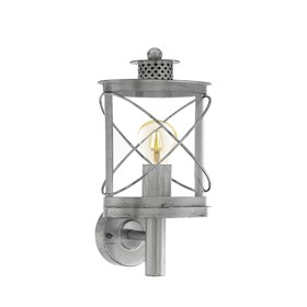 Светильник HILBURN 1, 60Вт, E27, IP44, цвет серебро