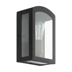Светильник PARETTA, 60Вт, E27, IP44, цвет черный