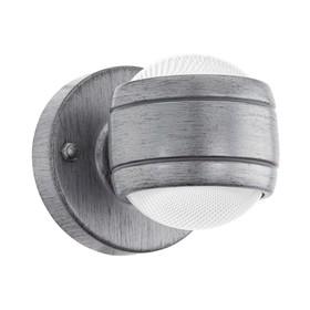 Светильник SESIMBA, 2x3,7Вт, LED, IP44, цвет серебро