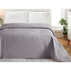 Покрывало «Андора», размер 220 × 240, цвет серый