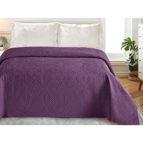 Покрывало «Андора», размер 220 × 240, цвет фиолетовый