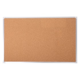 Доска пробковая 100х150 см, Calligrata REEF, в алюминиевой рамке, с полочкой
