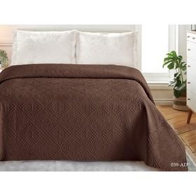 Покрывало «Андора», размер 220 × 240, цвет коричневый