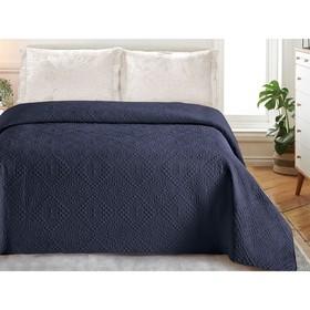 Покрывало «Андора», размер 220 × 240, цвет синий