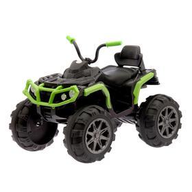 УЦЕНКА Электромобиль «Квадроцикл», 2 мотора, цвет зелёный (без радиоуправления) (трещины)