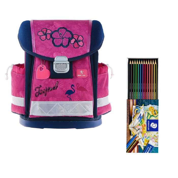 Ранец на замке Belmil Classy 36*32*19 дев Tropical Pink, розовый